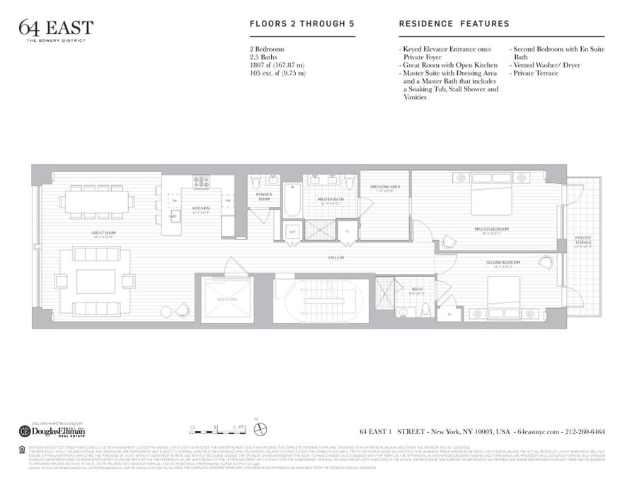 Floor plan of 64 East 1st St, 4 - East Village, New York