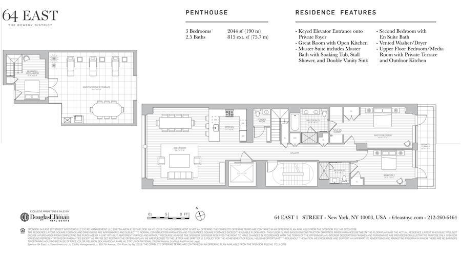 Floor plan of 64 East 1st St, PH - East Village, New York