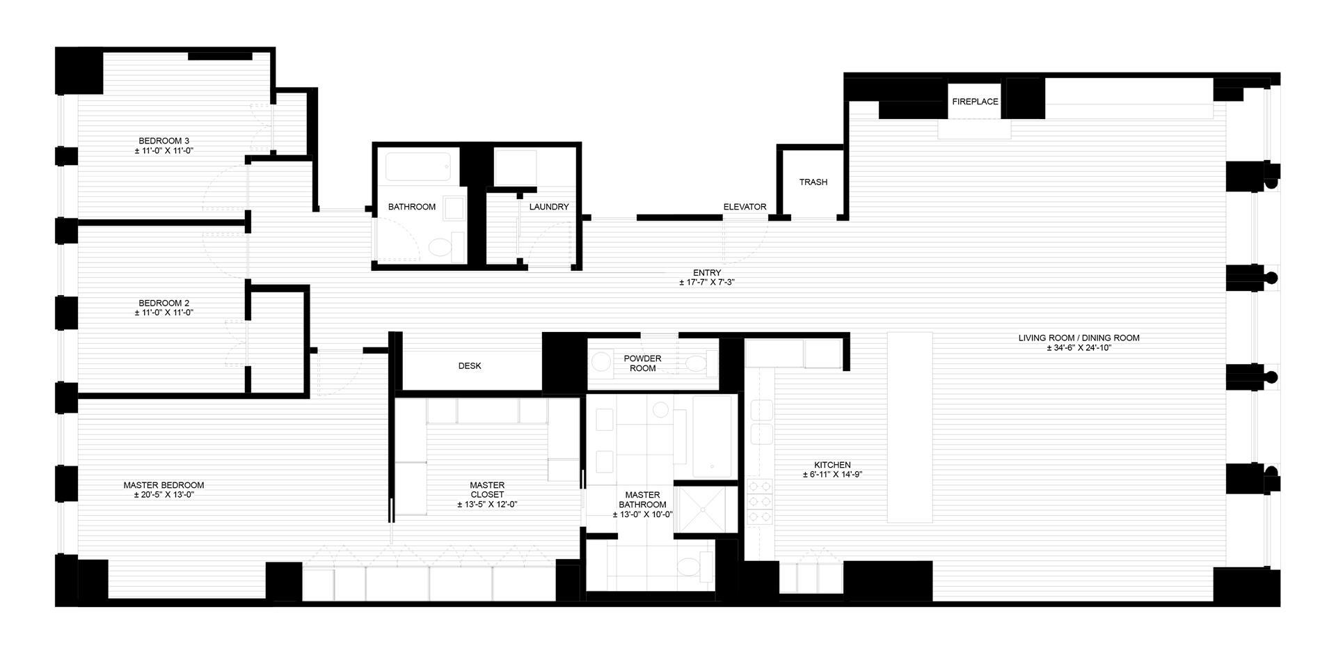 100 One57 Floor Plan 100 Eco Condo Floor Plan