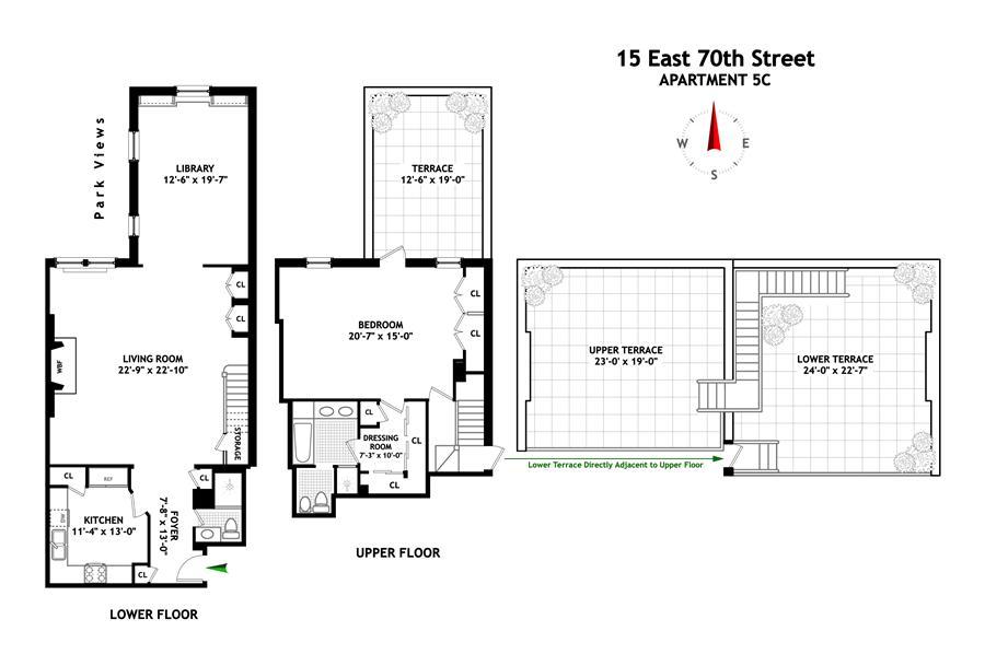 Floor plan of 15 East 70th St, 5C - Upper East Side, New York