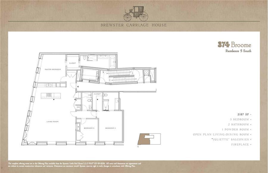Floor plan of 374 Broome Street, 5A - SoHo, New York