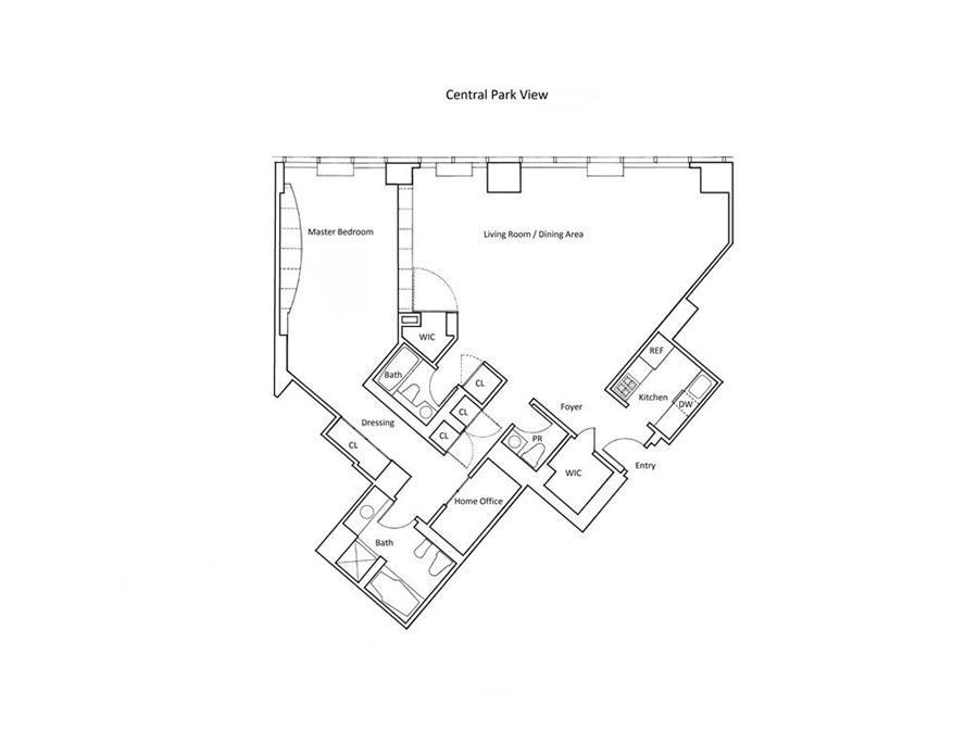 Floor plan of METROPOLITAN TOWER, 146 West 57th Street, 70B - Midtown, New York