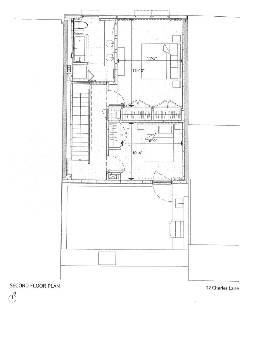 Floor plan of 12 Charles Lane, TH