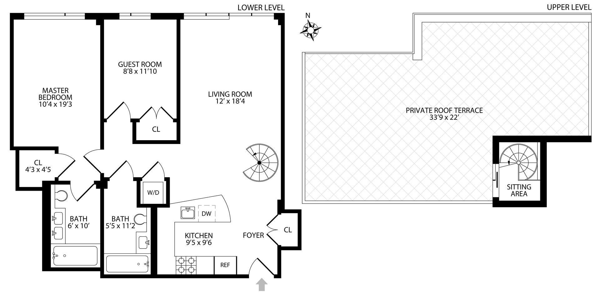 Floor plan of 46 South 2nd St, 4C - Williamsburg, New York