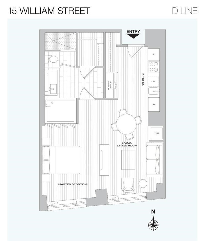 Floor plan of 15 William, 15 William Street, 22D - Financial District, New York