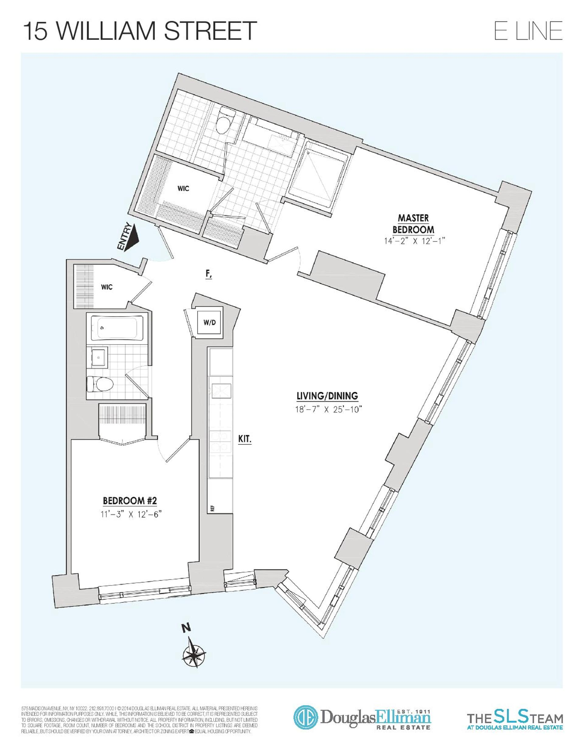 Floor plan of 15 William, 15 William St, 30E - Financial District, New York
