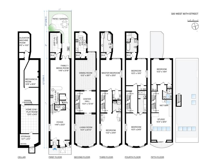 Floor plan of 320 West 80th Street - Upper West Side, New York