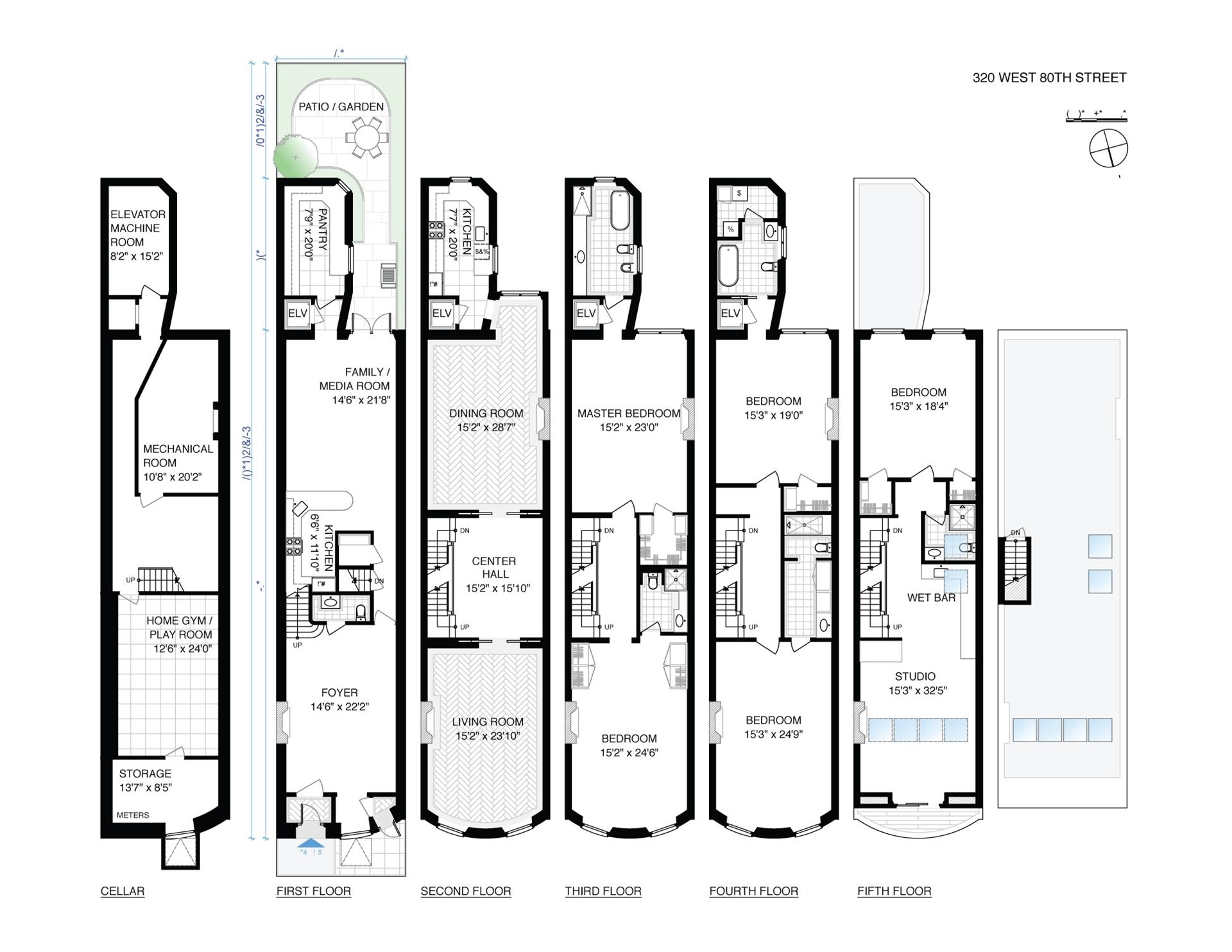 Floor plan of 320 West 80th St - Upper West Side, New York