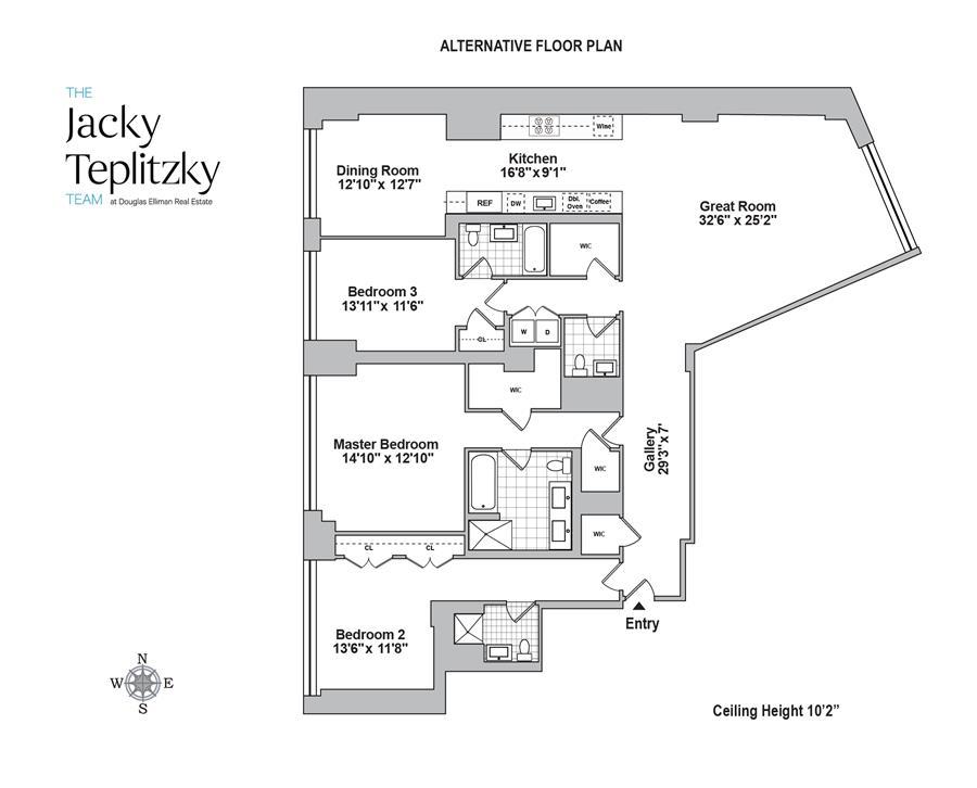 Floor plan of 10 Madison Square West, 11F - Flatiron District, New York