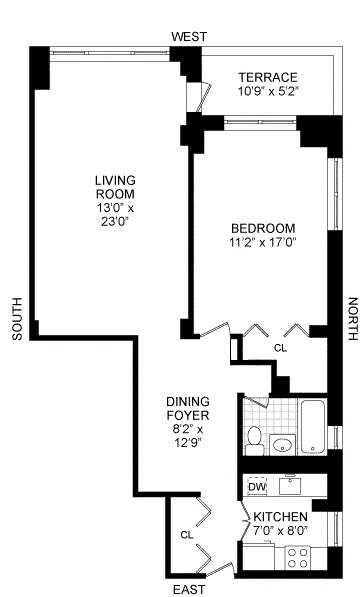 Floor plan of REGENCY EAST, 301 East 64th St, 6A - Upper East Side, New York