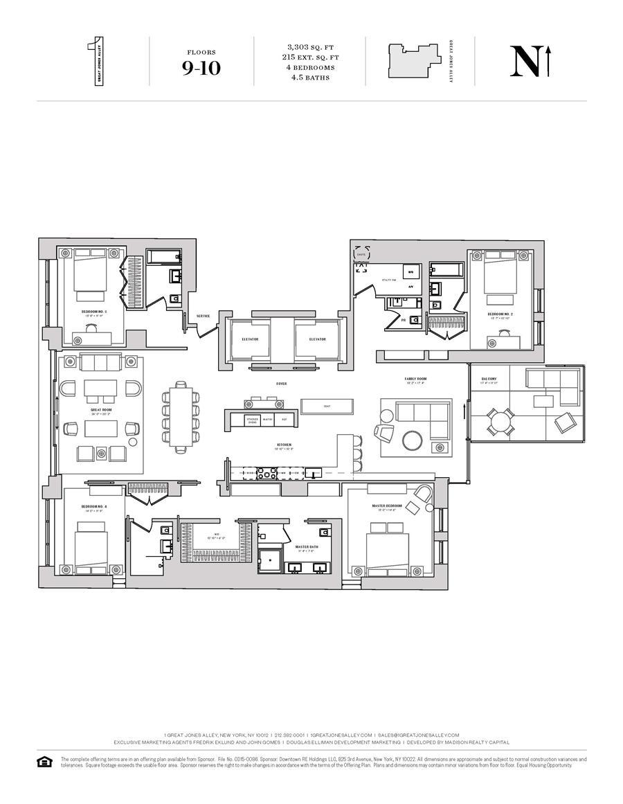 Floor plan of 1 Great Jones Alley, 9 - NoHo, New York