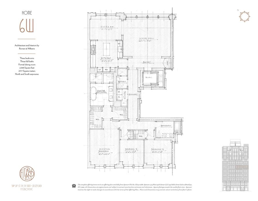 Floor plan of The Fitzroy, 514 West 24th St, 6W - Chelsea, New York