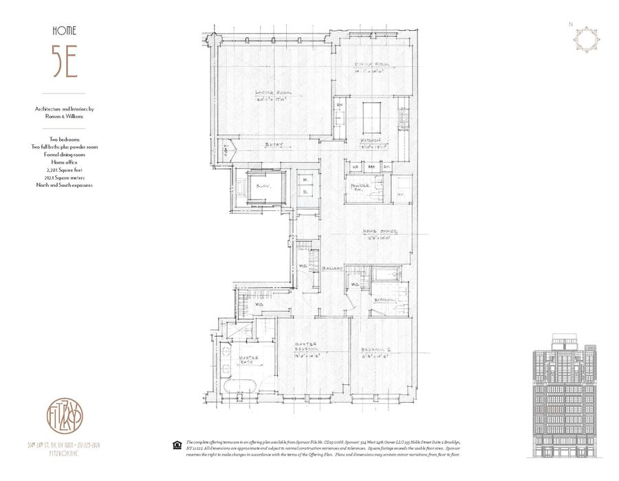 Floor plan of The Fitzroy, 514 West 24th St, 5E - Chelsea, New York