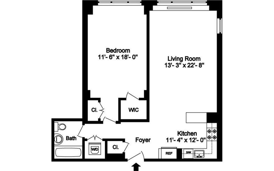 Floor plan of 130 East 63rd Street, 10D - Upper East Side, New York