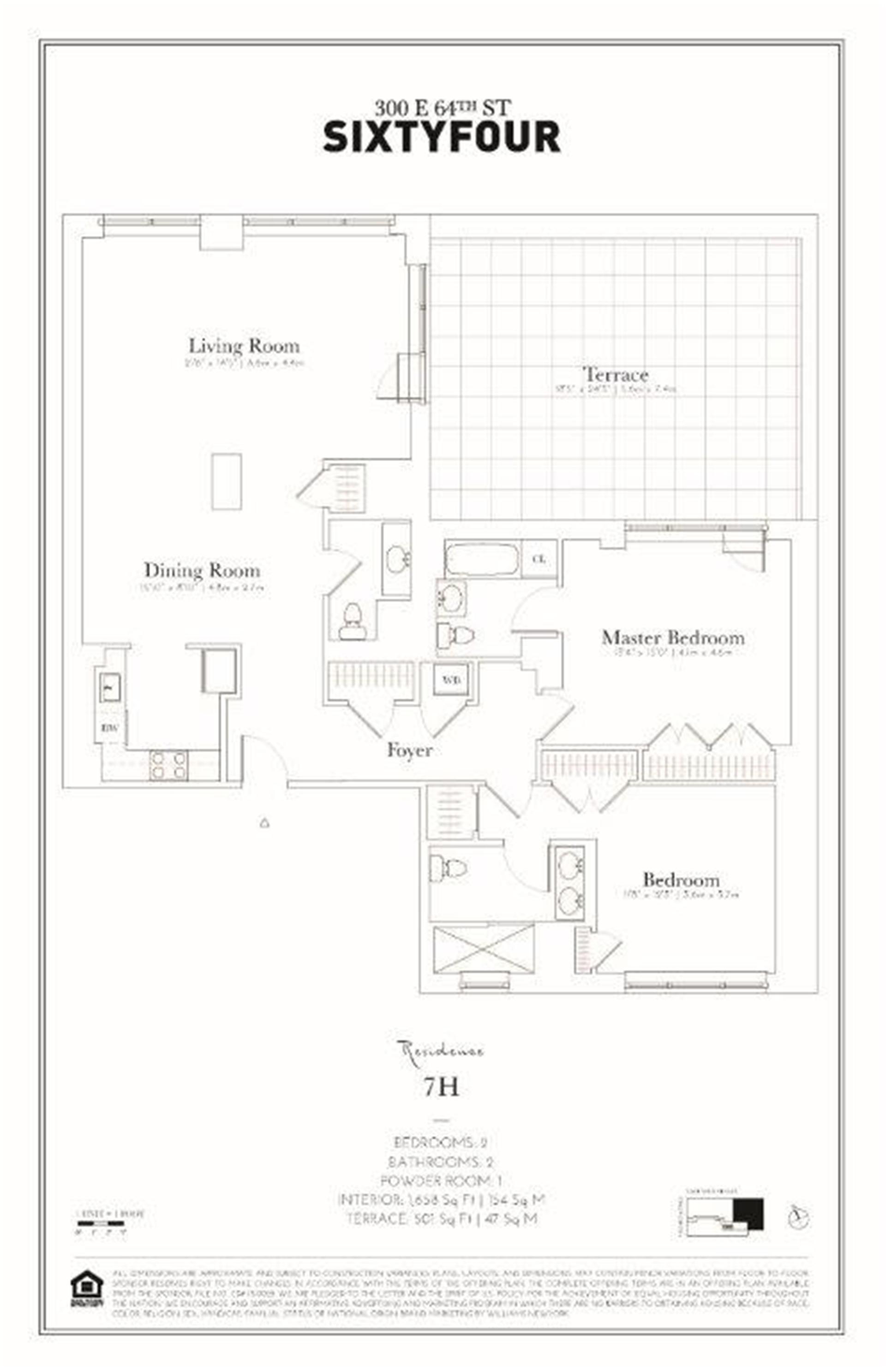 Floor plan of 300 East 64th St, 7H - Upper East Side, New York