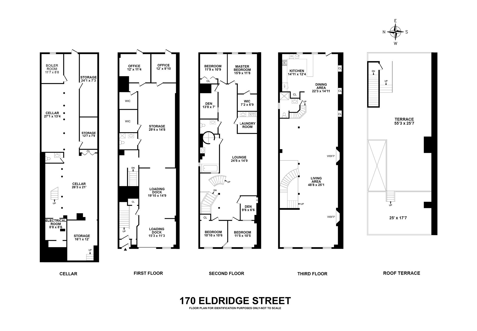 Floor plan of 170 Eldridge St - Lower East Side, New York