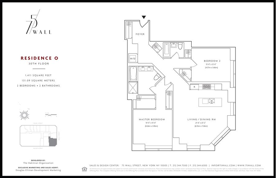 Floor plan of 75 Wall St, 30O - Financial District, New York