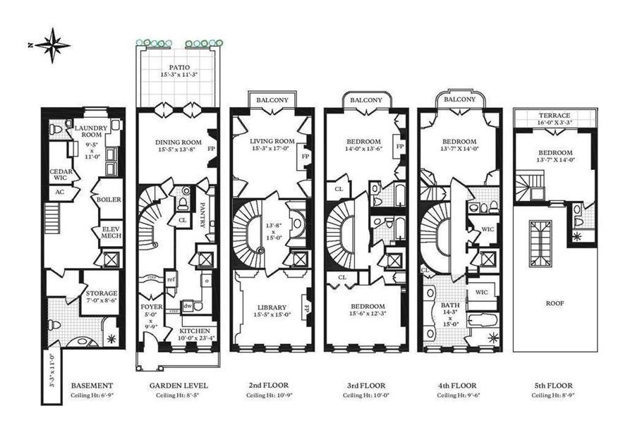 Floor plan of 13 Sutton Pl - Sutton Area, New York