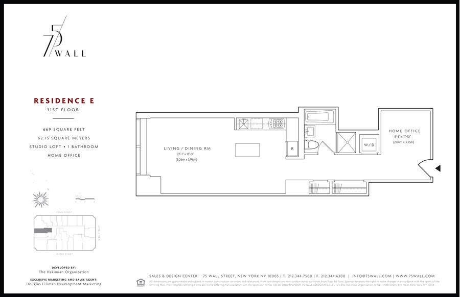 Floor plan of 75 Wall St, 31E - Financial District, New York