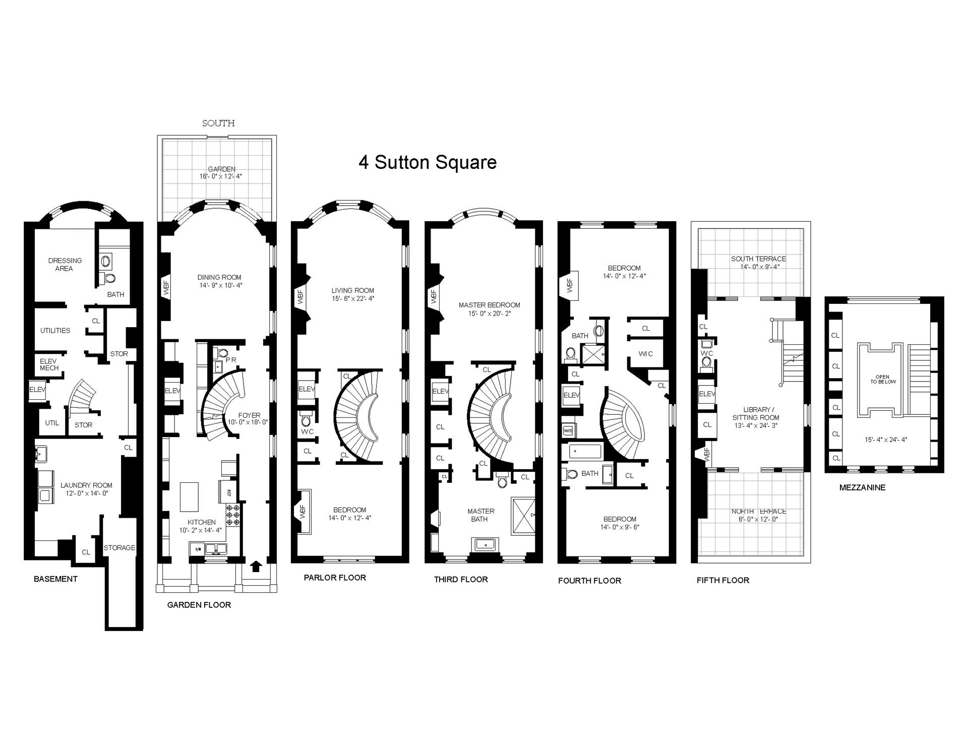 Floor plan of 4 Sutton Square - Sutton Area, New York