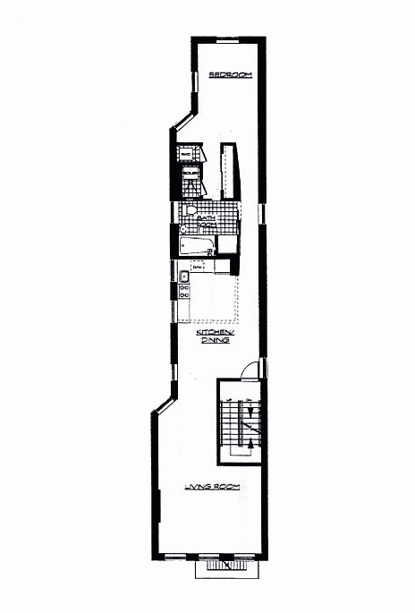 Floor plan of 555 West 149th Street, 2 - Hamilton Heights, New York