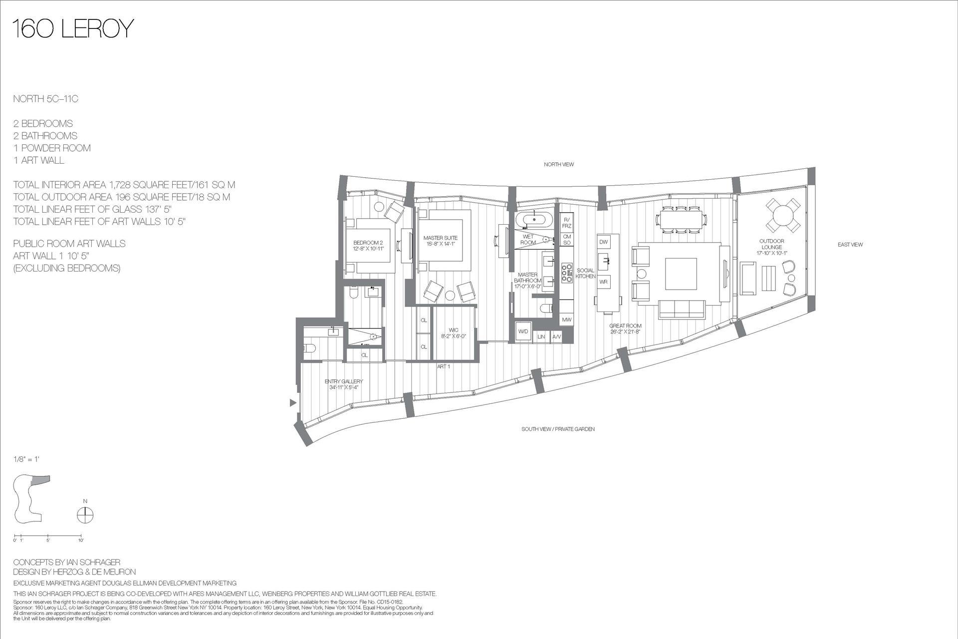 Floor plan of 160 Leroy St, NORTH10C - West Village - Meatpacking District, New York