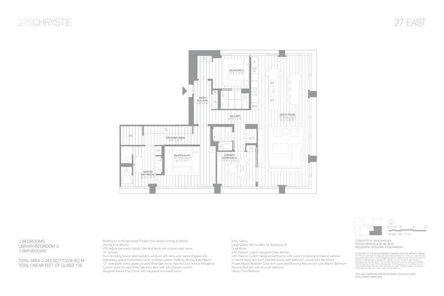 Floor plan of 215 Chrystie St, 27EAST - Lower East Side, New York