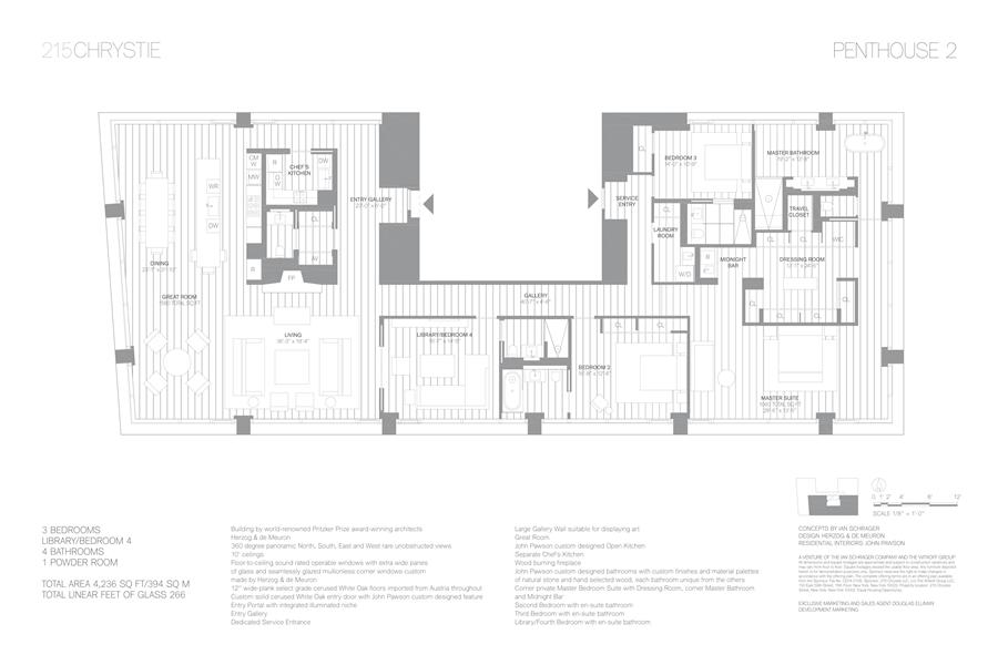 Floor plan of 215 Chrystie St, PH2 - Lower East Side, New York