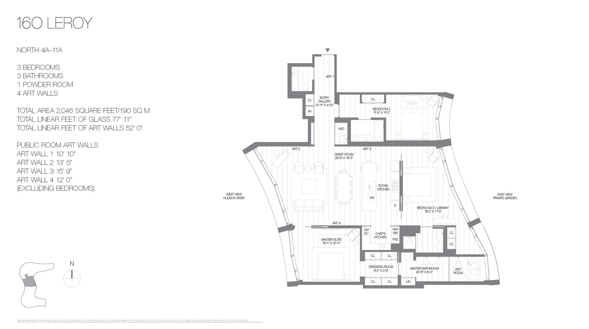 Floor plan of 160 Leroy St, NORTH8A - West Village - Meatpacking District, New York