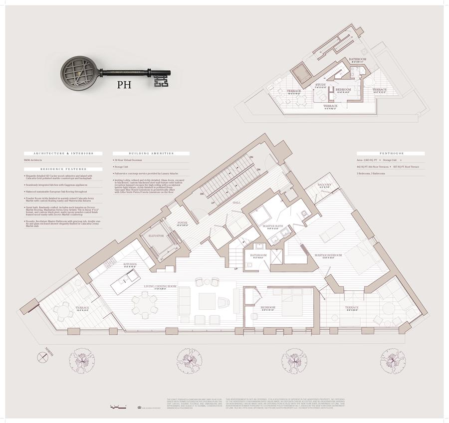 Floor plan of 175 West 10th St, PH - West Village - Meatpacking District, New York