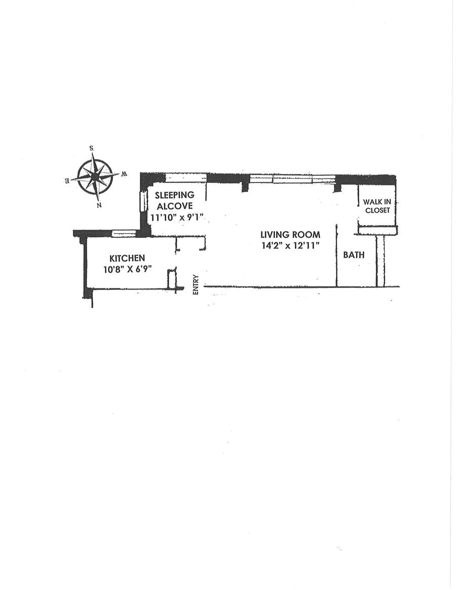 Floor plan of First Avenue Owners, Inc., 333 East 79th Street, 19M