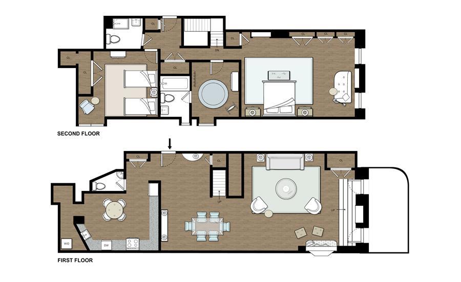 Floor plan of Advertising Club-Landmark Bldg, 23 Park Avenue, 1B - Murray Hill, New York