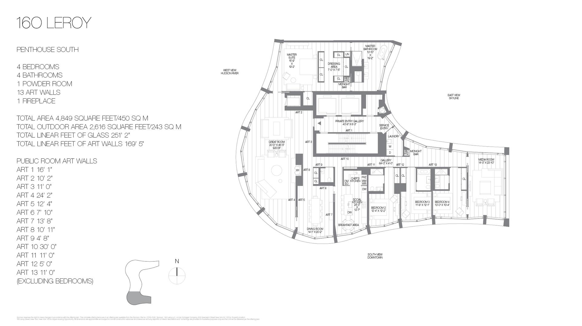 Floor plan of 160 Leroy St, PHSOUTH - West Village - Meatpacking District, New York