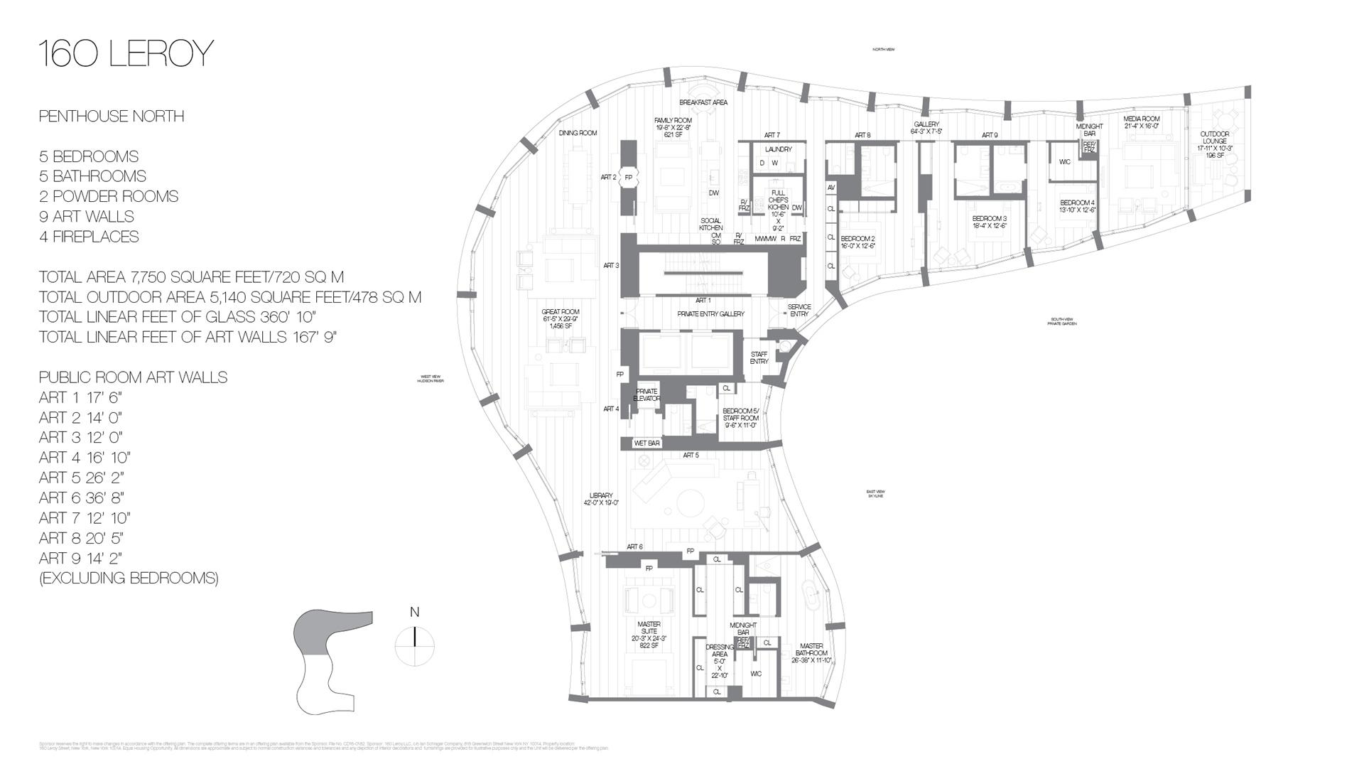 Floor plan of 160 Leroy St, PHNORTH - West Village - Meatpacking District, New York