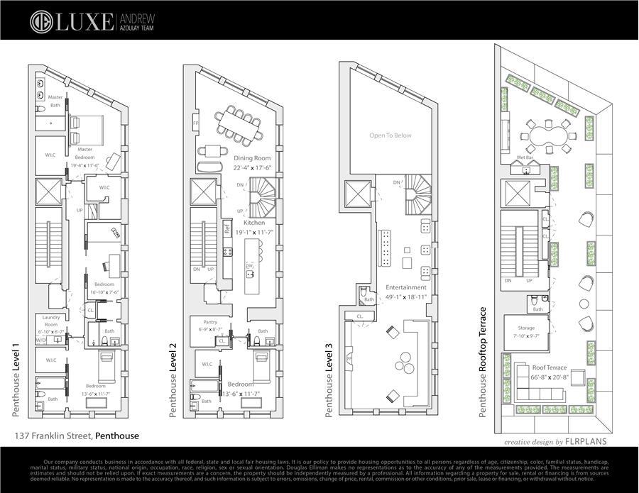Floor plan of 137 Franklin Street, PH - TriBeCa, New York
