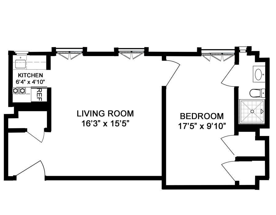 Floor plan of AMHERST/CORTLANDT, 510 West 110th Street, 3C - Upper West Side, New York