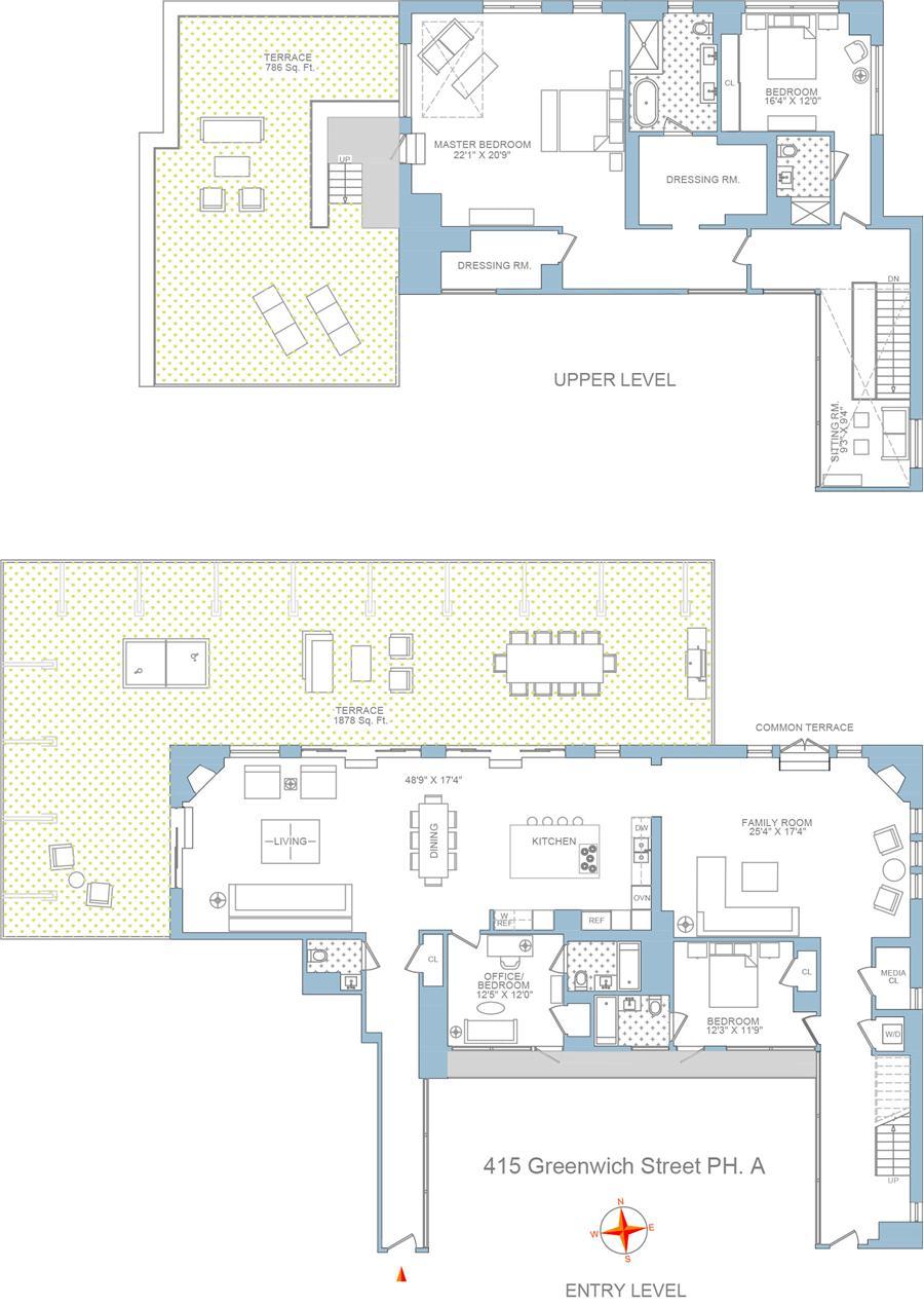 Floor plan of TRIBECA SUMMIT, 415 Greenwich Street, PHA - TriBeCa, New York