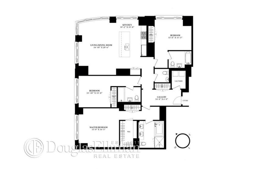 Floor plan of 200 East 79th St, 7A - Upper East Side, New York
