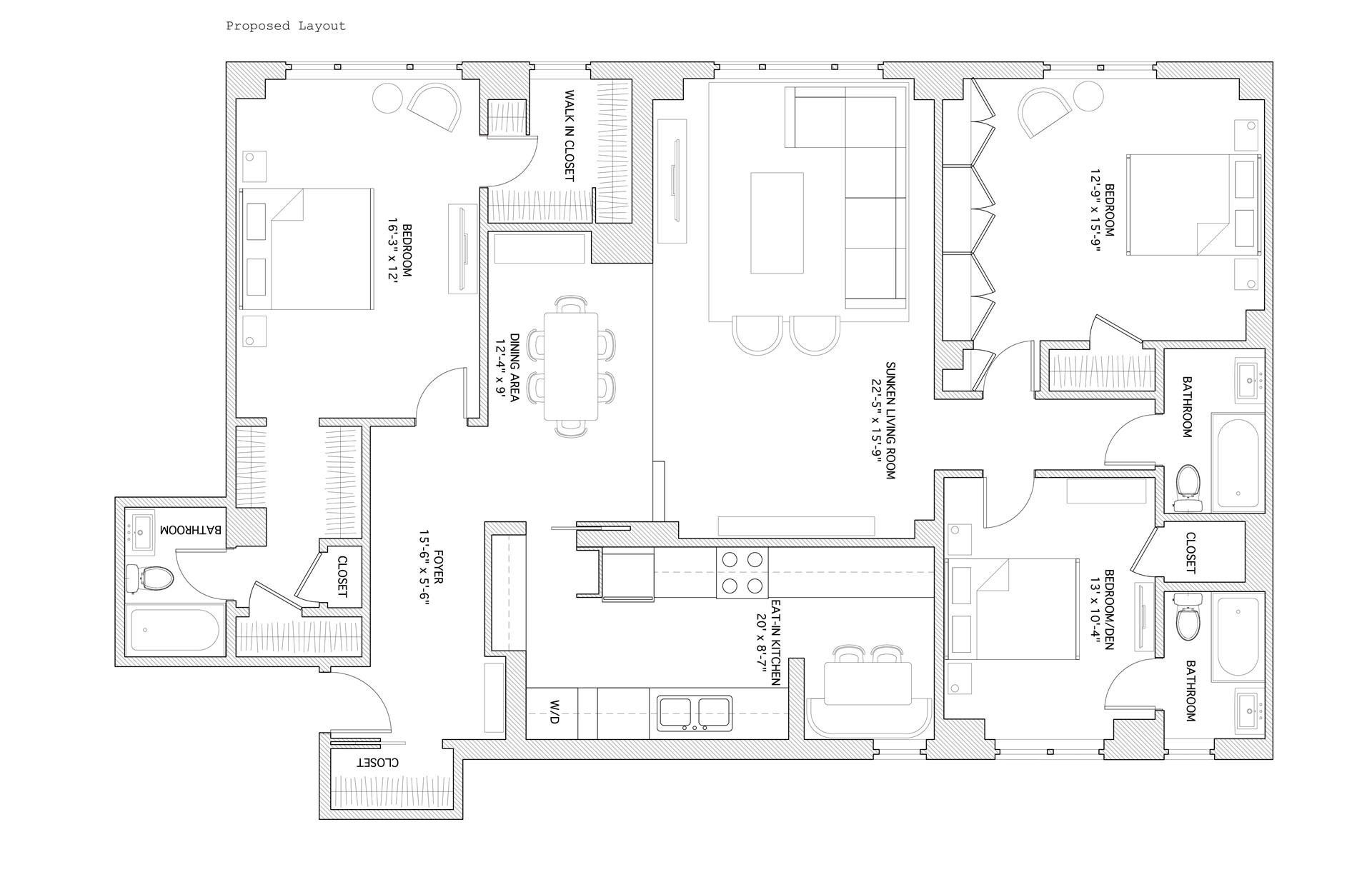 Floor plan of 400 East 52nd St, 6A - Sutton Area, New York