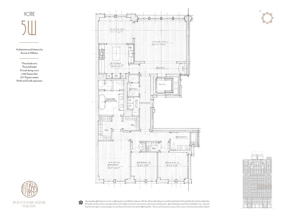 Floor plan of The Fitzroy, 514 West 24th St, 5W - Chelsea, New York