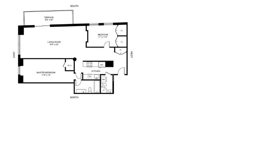 Floor plan of 380 West 12th Street, 4C - West Village - Meatpacking District, New York
