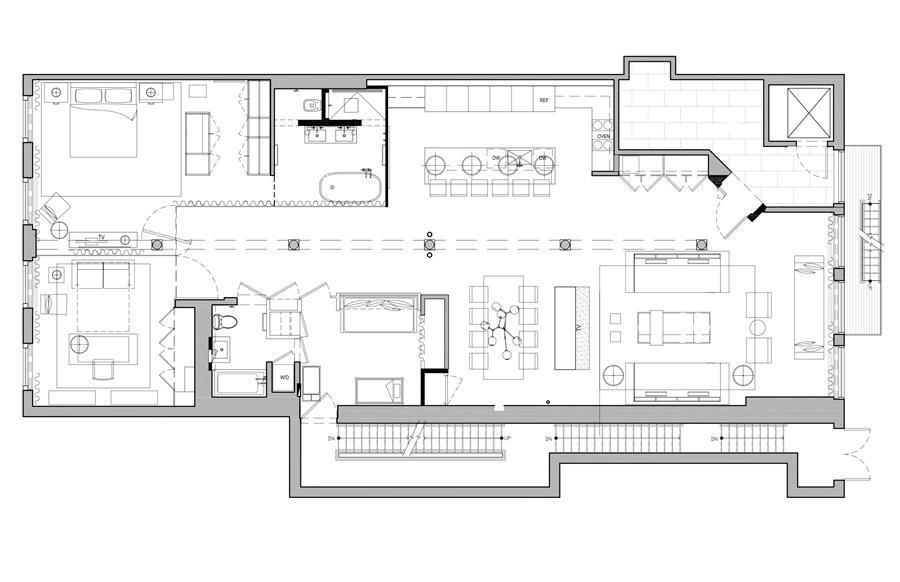 Floor plan of 117 Prince St, 3C - SoHo - Nolita, New York