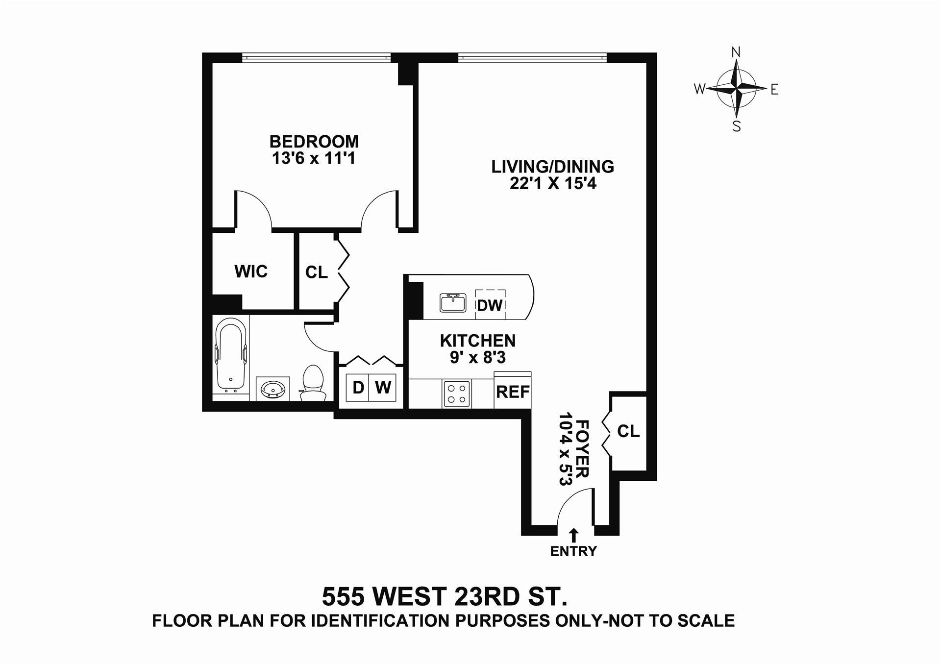 Floor plan of 555 West 23rd Street, S11R - Chelsea, New York