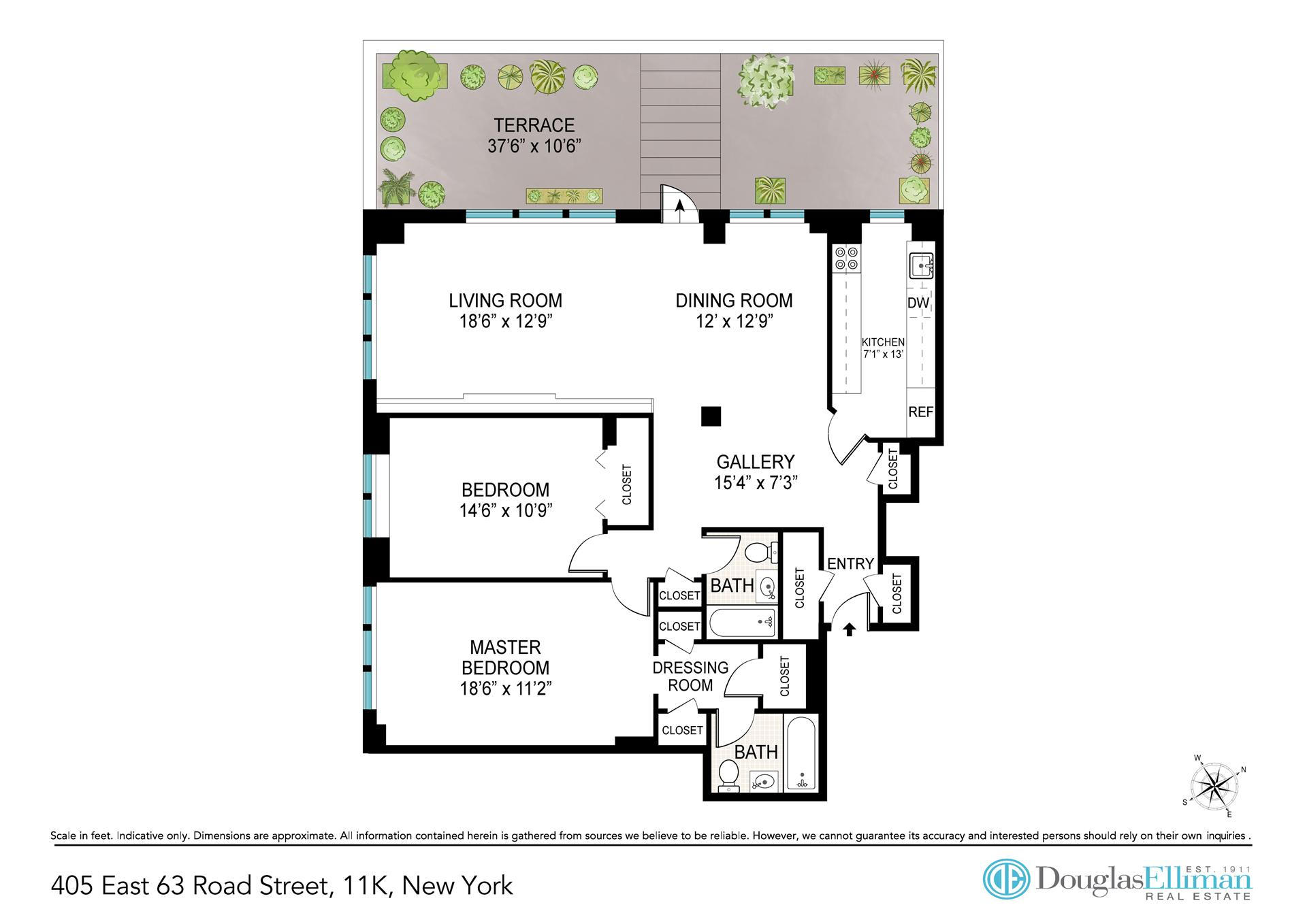 Floor plan of 405 East 63rd St, 11K - Upper East Side, New York