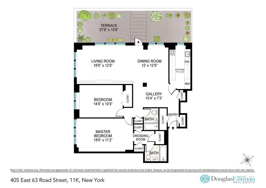 Floor plan of 405 East 63rd St, 11K - Upper East Side, New York
