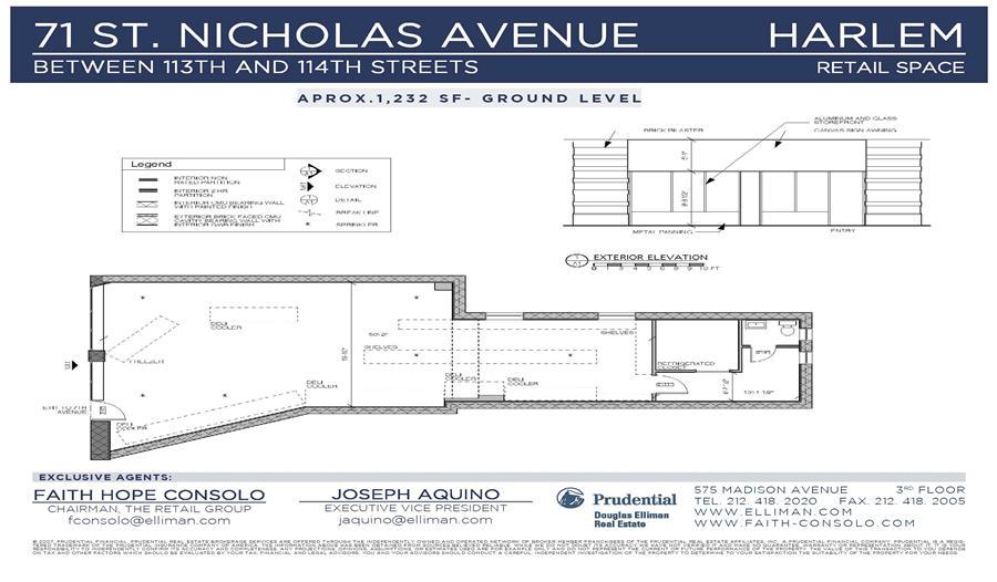 Floor plan of 71 St Nicholas Avenue, COMMERCIAL - Harlem, New York