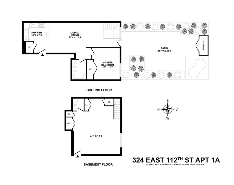 Floor plan of Senneca Terrace, 324 East 112th St, 1A - East Harlem, New York