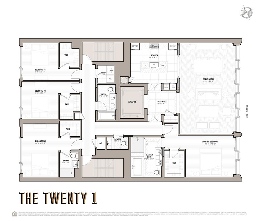 Floor plan of 117 West 21st Street, 3RDFLR - Chelsea, New York