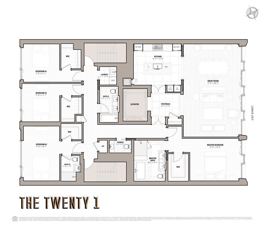 Floor plan of 117 West 21st Street, 4THFLR - Chelsea, New York