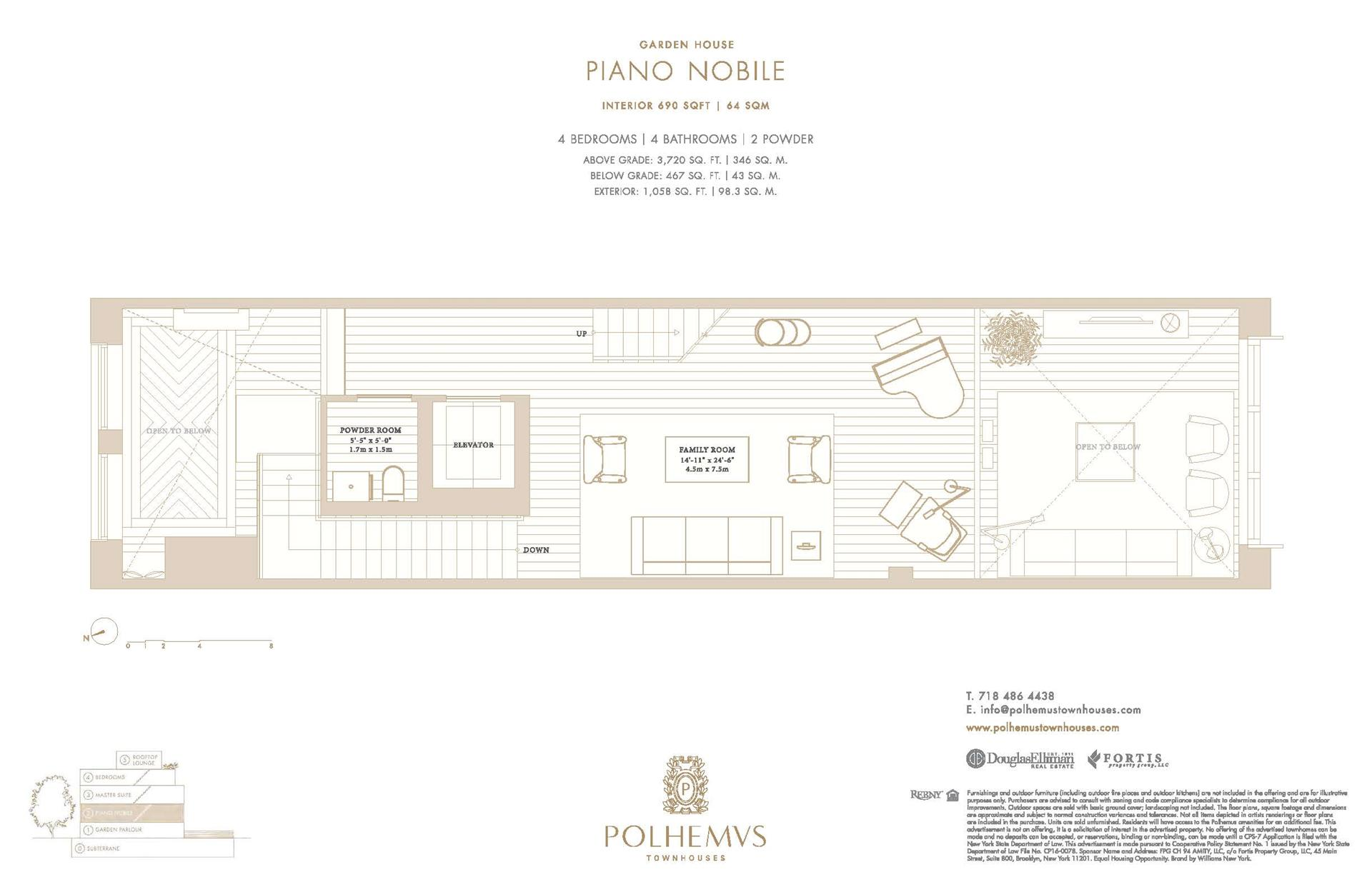 Floor plan of Polhemus, 92A Amity St - Cobble Hill, New York